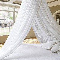 Dreamma Eletgant White Round Bed Canopy Mosquito Net