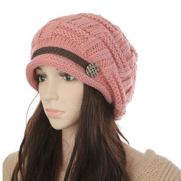 Gorgeous Dusty Rose Knit Fashion Winter Beanie/Hat