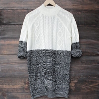 minkpink - two faced cable knit dress