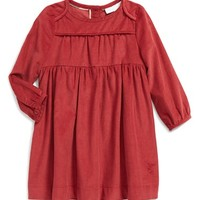Infant Girl's Burberry Corduroy Dress,