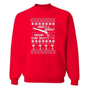 XtraFly Apparel Ugly Christmas Vacation Funny Pullover Crewneck-Sweatshirt