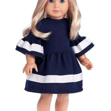 Navy Blue - Doll Dress for 18 inch American Girl Doll