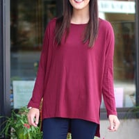 Emma's Basic Loose French Terry {Wine}