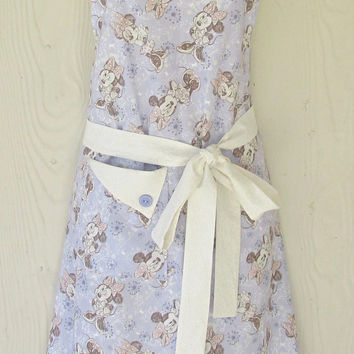 Minnie Mouse Floral Retro Style Full Apron for Women / Disney / Flowers