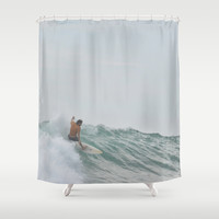 morning surf Shower Curtain by RichCaspian