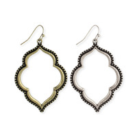 Moroccan Design Open Dangle Earrings