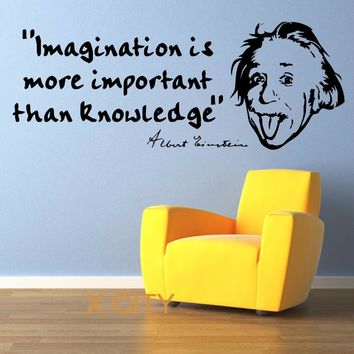 ALBERT EINSTEIN well know Quote Wall Art Room Sticker Decal Door Window Stencils Mural Decor S M L
