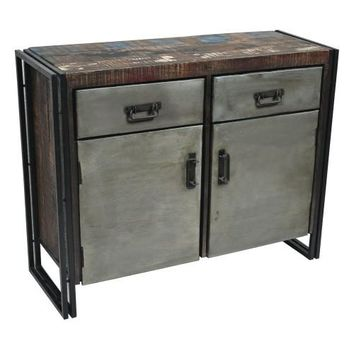 Abran 2 Door 2 Drawer Industrial Sideboard/Buffet