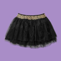 Versace - Embroidered tulle skirt