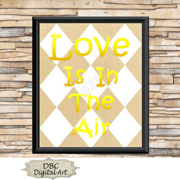 Wall Art, Grunge Wall Art, Diamond Wall Art, Love Is In The Air, Wall Décor, Home Décor, Digital Art, Digital Download, Instant Download
