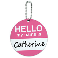 Catherine Hello My Name Is Round ID Card Luggage Tag