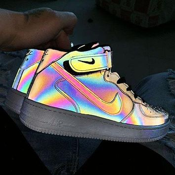 Nike Air Force men and women models chameleon casual wild shoes