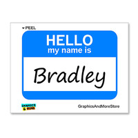 Bradley Hello My Name Is Sticker