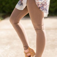 High Waisted Leggings - Mocha