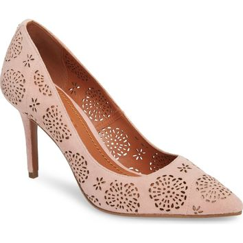 COACH Waverly Tea Rose Perforated Pump (Women) | Nordstrom