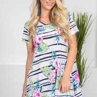 Cool Floral Tropical Dress