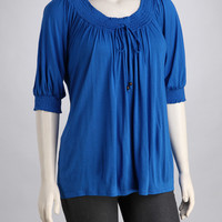 Dark Royal Blue Plus-Size Top