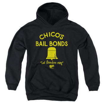 BAD NEWS BEARS/CHICO'S BAIL BONDS-YOUTH PULL-OVER HOODIE - BLACK - XL