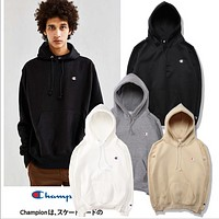 Simple embroidery sweater Champion men fall / winter hooded hoodie Couples