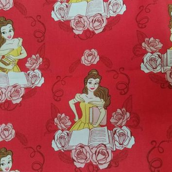 CAMELOT   - beauty - and - the - beast - belle - quilting  - cotton - disney - print