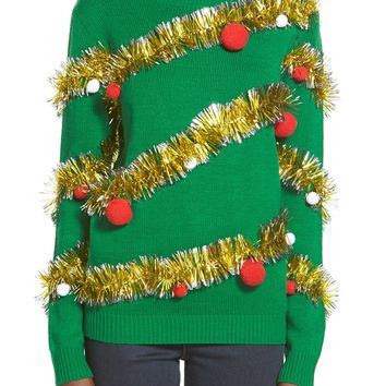 Ten Sixty Sherman Tinsel Ball Christmas Sweater | Nordstrom