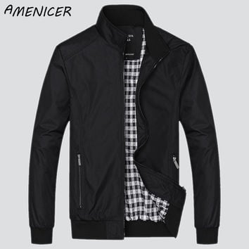 Men's Fashion Casual Loose Sportswear Bomber Jacket