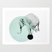 elephant Art Print by Morgan Kendall