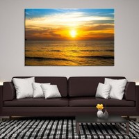 31648 - Sun Gently Reflecting Off The Sea Wall Art Canvas Print
