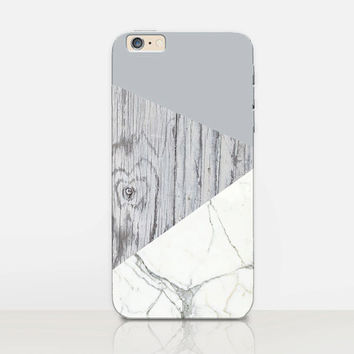 Marble Wood Phone Case - iPhone 6 Case - iPhone 5 Case - iPhone 4 Case - Samsung S4 Case - iPhone 5C - Tough Case - Matte Case - Samsung