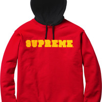 Supreme Hooded Crewneck Pullover