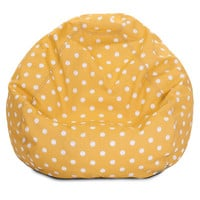 Citrus Ikat Dot Small Classic Bean Bag