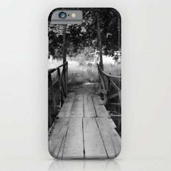 Wooden Bridge in BW iPhone & iPod Case by ARTbyJWP