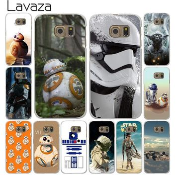 Lavaza Star Wars Yoda BB-8 Droid Robot Hard Style White for Samsung Galaxy S3 S4 S5 & Mini S6 S7 S8 Edge Plus Case Cover