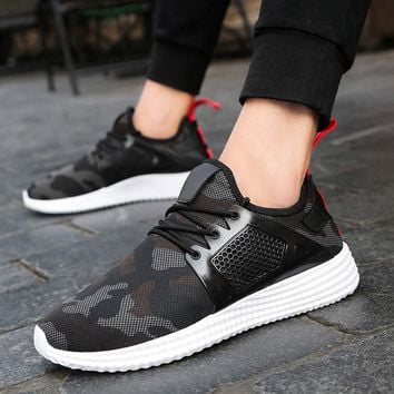 Men's Camouflage Low-cut Tennis Shoes