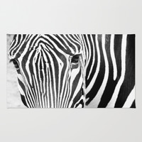 zebra Area & Throw Rug by Marianna Tankelevich