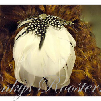 Steampunk Fascinator Barrette Extra Large 4 Inch Alternative Bride Flapper Style