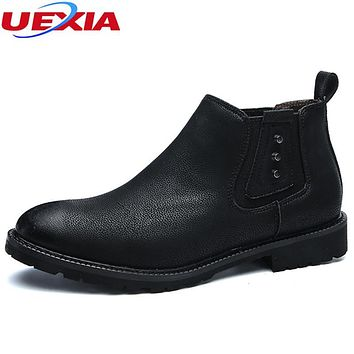 UEXIA New Business Dress Pointed Flats Shoes Men Leather Oxford Office Wedding Dress Fashion Rivets Moccasin Glitter Formal Male