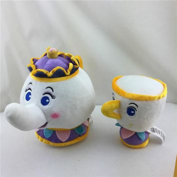 Cartoon anime Beauty Beast Teapot Cup Candle Holders Soft Toy That  Stuffed Toys Plush Dolls For Kids Birthday Christmas Gifts
