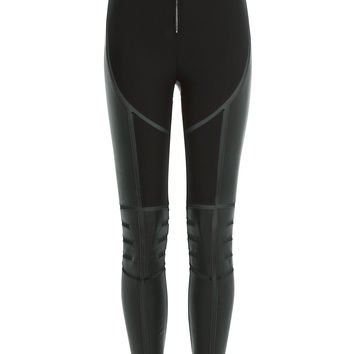 Skinny Pants with Leather and Mesh - Dsquared2 | WOMEN | KR STYLEBOP.COM