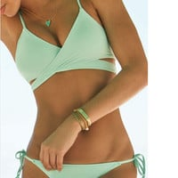 Cut Out Bandage Bikini Set Swimsuits