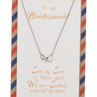 Bridget Bridesmaid Gifts Interlocking Hearts Necklace, Bridesmaid Jewelry