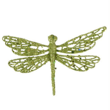 12 Clip-on Dragonfly Ornaments - Ready-to-attach With Crocodile Clips Located On The Bottom Of Each Ornament
