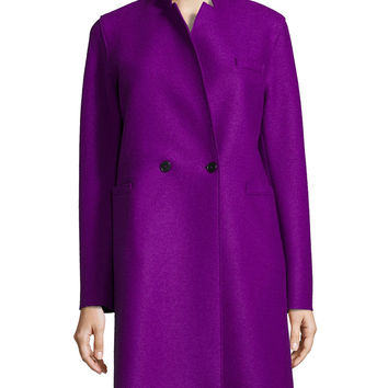 Double-Faced Two-Button Wool Coat, Size: