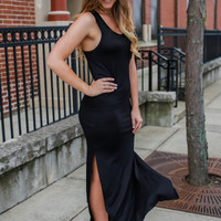 At Long Last Maxi Dress - Black