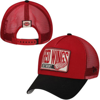 New Era Detroit Red Wings Throwback Adjustable Trucker Hat - Red/Black