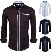 Trim Design New Slim Fit Men's Long Sleeve Shirt
