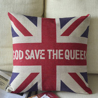 God Save The Queen Print Decorative Pillow [048] : Cozyhere