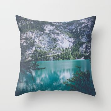 Peer Through Throw Pillow by Gallery One