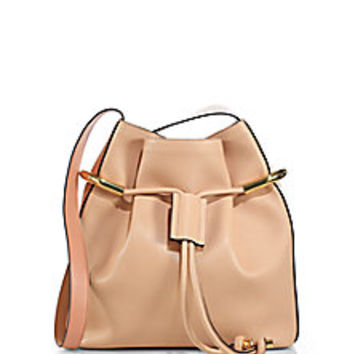 Chloé - Emma Small Two-Tone Drawstring Hobo Bag - Saks Fifth Avenue Mobile