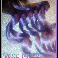 ONE PIECE / 1.5 Inches Wide / 12 Inches Long / Sample Size / Accent Pieces / Real Human Remy Hair Extensions / Clip In